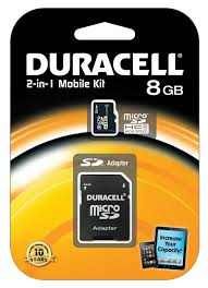 Duracell 2-in-1 Mobile Kit 8GB